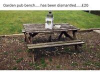 Garden pub bench