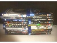 20 BluRay Dvds for sale