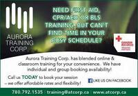 First Aid CPR/AED and BLS Training