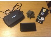 Nintendo DS lite- black, case, charger and selection of games
