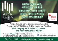 First aid CPR AED and BLS courses
