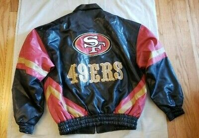 San Francisco SF 49ERS Black Game Day NFL Jacket style #11597 with Flaws Vintage