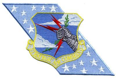 """USAF Patch STRATEGIC AIR COMMAND - """"Milky Way"""" Banner"""