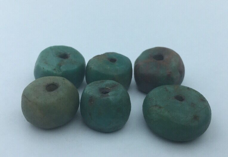 Genuine Amazonite BEAD- Moroccan Berber Ethnic Tribal- 37.8 grams