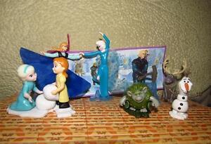 Kinder surprise egg comlete set: Frozen Disney cartoon 8 mini toys + paper!