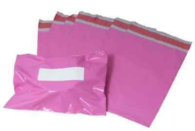 50 x Strong Large PINK Postal Mailing Bags Sacks 12x16