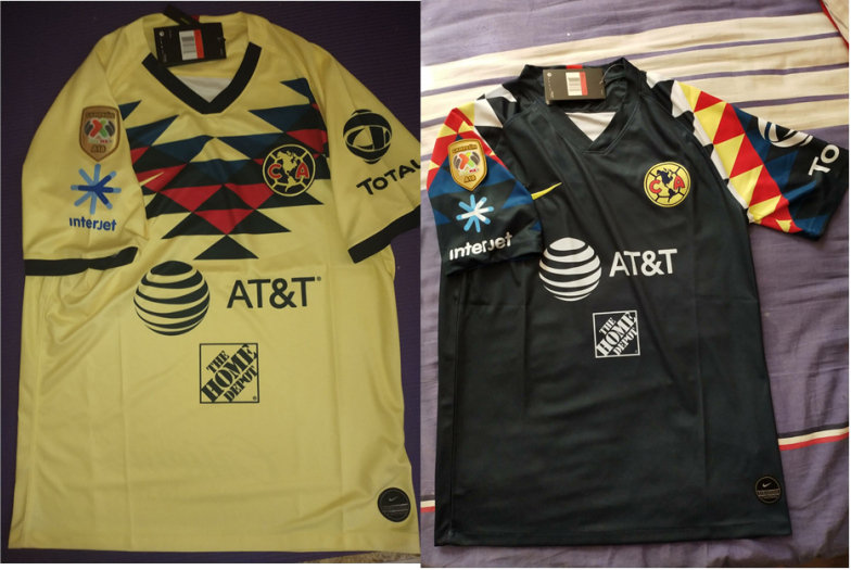 2019-2020 Club America Goalkeeper Soccer Jersey And A18 LIGA MX CAMPEON Patch