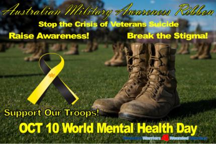 Australian Military Awareness Ribbon with 24 Carat Gold Star
