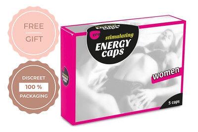 Ero Energy Stimulating Caps for Women 5Pcs aphrodisiac by HOT Better love (Best Aphrodisiac For Women)