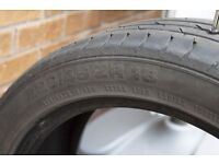 Continental Contact Sport 3 Part worn tyre 3-4mm
