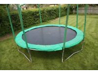 14ft Jumpking robust Trampoline with NEW main mat and spring protector.
