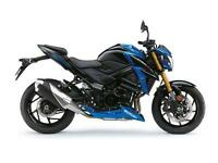 2017 SUZUKI GSX-S750 METALLIC TRITON BLUE,GLASS SPARKLE BLACK, BRAND NEW!