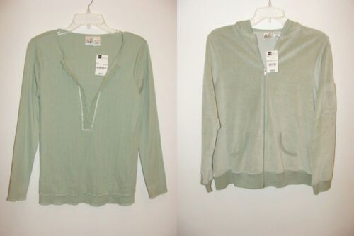 NEW Maternity size Small 4-6 S Hoodie Jacket Top Lot Shirt Mint Green Womens NWT