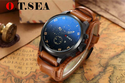 LUXURY QUARTZ  LEATHER WATCHES MEN MILITARY SPORT 2019 BEST SELLING