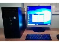HP DX2200 PC with HP L1706 Monitor