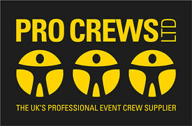 Urgent Event Crew Needed Manchester and surrounding areas