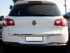 Stainless Steel Rear Trunk Tailgate Lid Cover Trim for VW Tiguan 5N 2008-2015