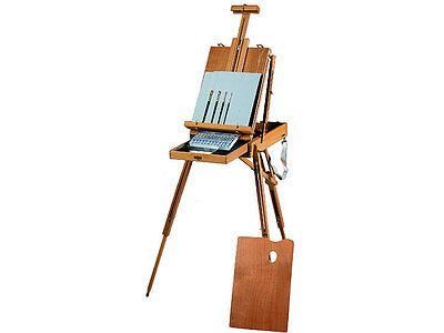 Oil Paint Art Artist Sketchbox Easel Kit Set | Includes Paints, Brushes, & More