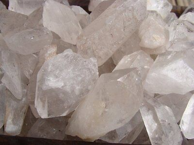 QUARTZ CRYSTAL POINTS - 5 LB Lots - Healing