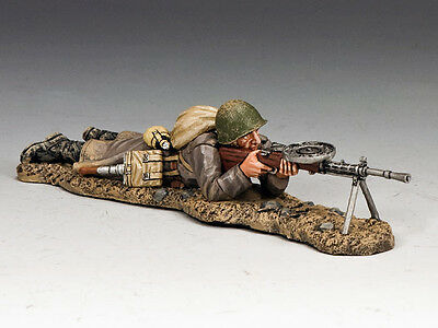 King And Country Red Army Lying Prone Machine Gunner Ra36 Ra036