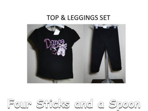 nwt The Children's Place Dance Top & Leggings W/lace 6-9 M, 12, 18, 24, 3t, 4t