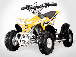 49CC QUAD Pocket Dirt Bike ATV Rockets Gokart 4 Wheeler kids mini Buggy QDYELLOW