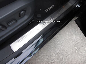 4 Pcs Stainless Steel Inner Scuff Plate Door Sill for VW Tiguan 5N 2007-2015