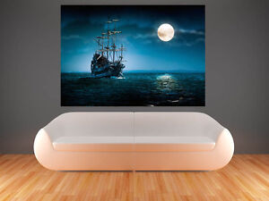 A0 PIRATE SHIP IMAGE LARGE  IMAGE  GIANT POSTER PRINT ART