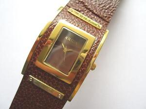 Krizia-big-plated-rectangular-ladies-N-O-S-watch