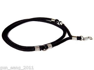 Sturdy Black Braided w/  S/S Fittings Thai Silk Necklace for 3 Buddha Amulets