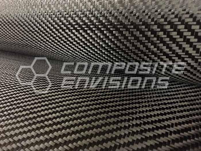 "Carbon Fiber Fabric 2x2 Twill 50"" 3k 6oz 203.436gsm AS4"