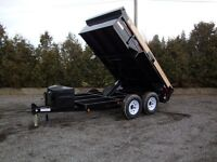 6' x 12' Heavy Durty 12,000 lb Dump Trailer with hidden ramps