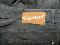 31. Dsquared2 Grey/ Brown Corduroy Pants 50 Italy / 34 US