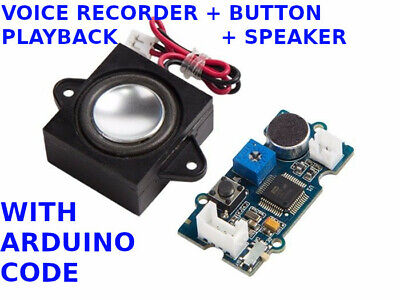 Voice Recorder Arduino Push Button Playback With Speaker Arduino Software Code