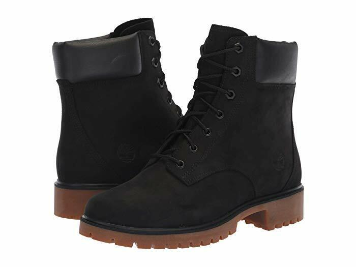 Timberland Women's Jayne 6 Inch Waterproof Leather Lace Up Boots - Black