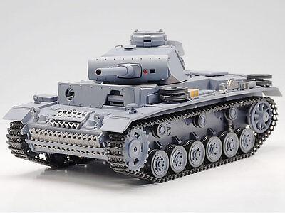 New 2.4G 1:16 Remote Control Panzer III Airsoft Tank Smoking & Sound BB RC Tank