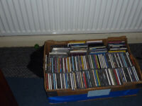 BOX OF 150 ASSORTED USED CD'S ALL CASES HAVE CDS
