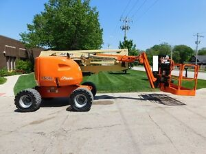 2007 JLG 450AJ 4x4 Articulating Boom Lift - 220V SkyPower!