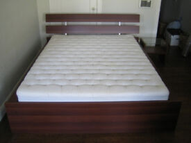 IKEA double bed frame (not inc matress) with removeable head board and space for underbed storage