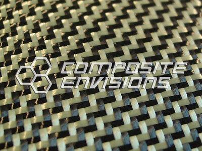 Carbon Fiber Made With Kevlar Yellow Fabric 2x2 Dual Twill 50 3k 5.5oz