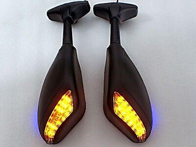 New Matt Black LED Turn Signals Integrated Mirror for Honda CBF CBR600RR CBR1000