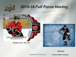 2015-16 Upper Deck Full Force Hockey Trading Cards Box Kitchener / Waterloo Kitchener Area image 4
