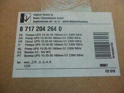 Junkers Pumpe 87172043850 Hersteller Nummer Ersatzteil