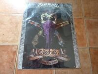 ALCHEMY GOTHIC (CLASSIC) HANDMADE ENAMELLED CROSSROADS METAL WALL SIGN (NEW)