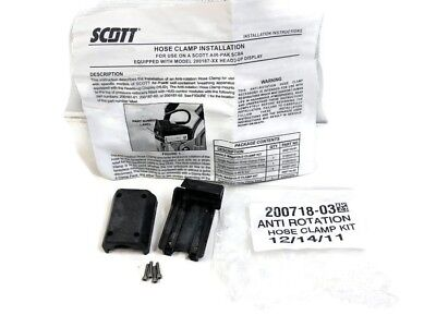 Scott Scba Anti-rotation Hose Clamp Kit For Heads Up Display 200718-03 New