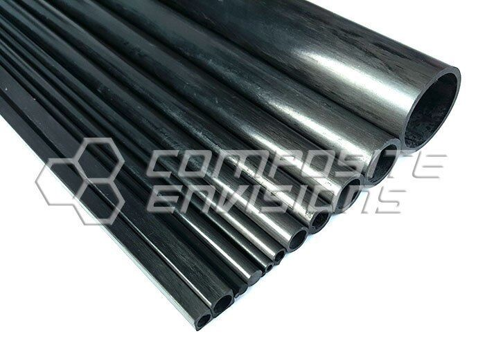 Carbon Fiber Pultruded Round Tube 12mm OD x 8mm ID x 1.2m