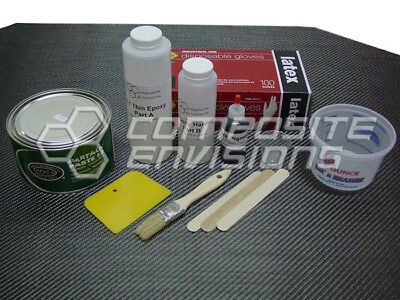 Build Your Own - Carbon Fiber Part Wrapping Kit W Clear Epoxy - Medium Kit