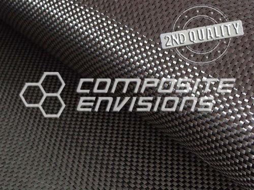 """Carbon Fiber Fabric Plain Weave 50"""" 3k 5.7oz Commercial Grade 2nd Quality"""