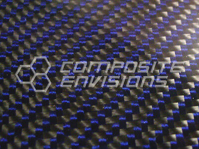 Carbon Fiber Panel Made With Kevlar Blue .022.56mm 2x2 Twill-48x48