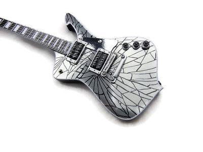 Axe Heaven Kiss Iceman Mini Guitar Paul Stanley Cracked Mirror